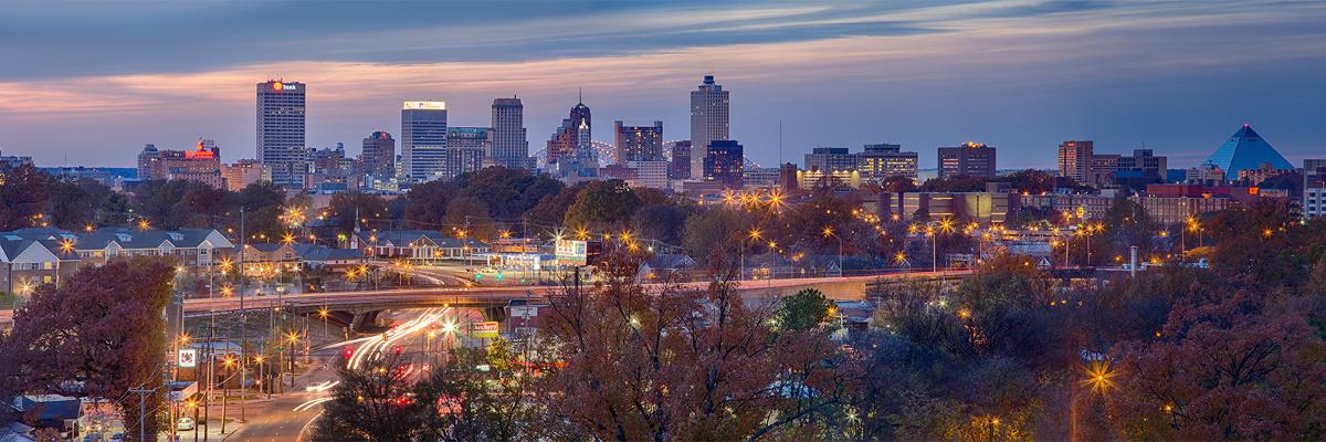 Memphis City Skyline